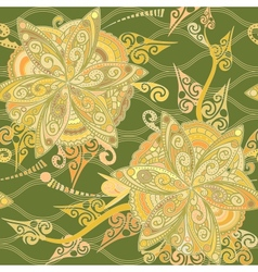 Floral pattern in eastern style vector