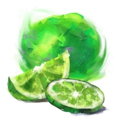 Drawing lime with a slice vector