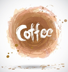 Grunge background with bright brown splash coffee vector