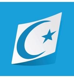 Turkey moon sticker vector