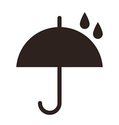 Umbrella with raindrops vector
