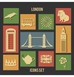 London flat icons vector