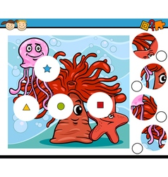 Preschool education cartoon game vector