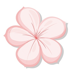 A five-petal pink flower vector