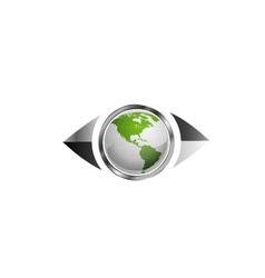 World map in eye vector