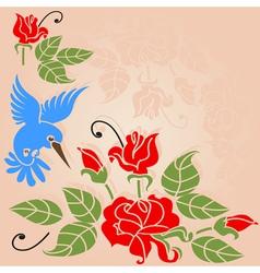 Rose bush vector