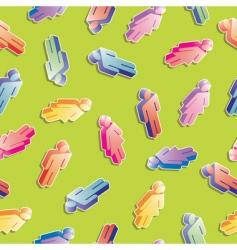 Seamless men and women pattern vector