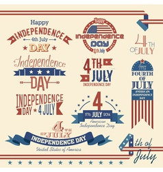 American independence day label set vector