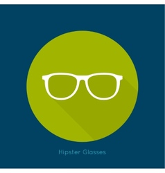 Geek glasses icon with long shadows vector