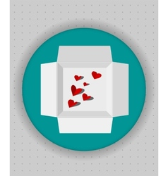 Gift box icon in blue circle vector