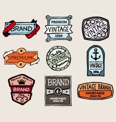 Sketchy labels vector