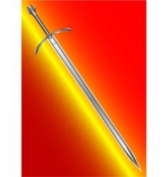 Steel ancient sword vector