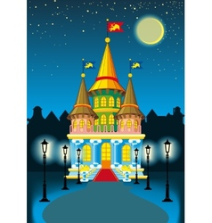 Fairytale castle at night vector