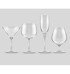 Set of transparent glass vector