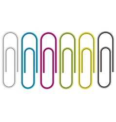 Paper clip isolated on white background vector