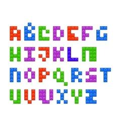 Plastic constructor alphabet vector