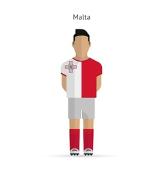 Malta football player soccer uniform vector