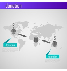 Infographic donation for web or print design vector