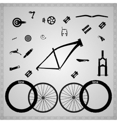 Bicycle components vector