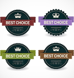 Set of sale badges vector