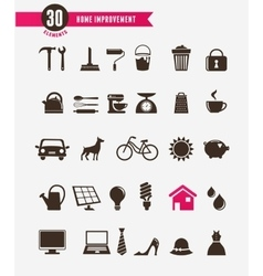 Home - icon set vector
