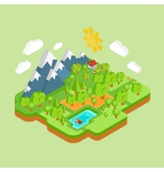 Environment friendly natural landscape vector