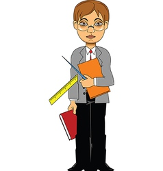 Cartoon teacher vector