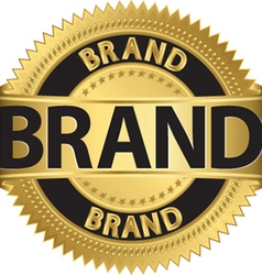 Brand gold label vector