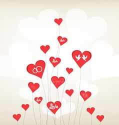 Love background with hearts valentine day vector