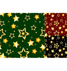 Seamless gold star pattern vector