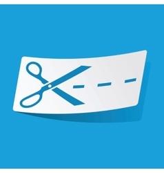 Cut sticker vector