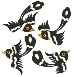 Bird cartoon design vector