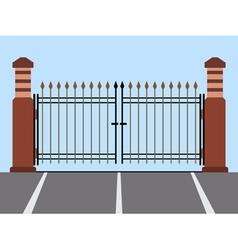 Metal gate flat vector