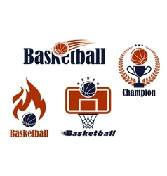 Basketball sport team emblems and symbols vector