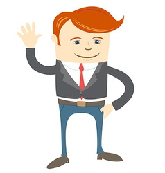 Office man waving vector
