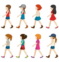 Faceless female teenagers vector