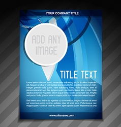 Advertise flyer brochure template vector