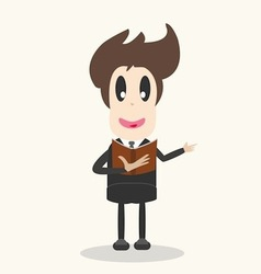 Businessman studying vector
