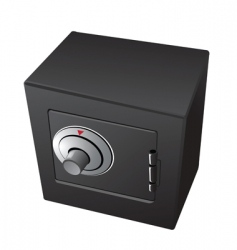 Safe vault dial vector