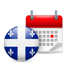 Icon of national day in quebec vector