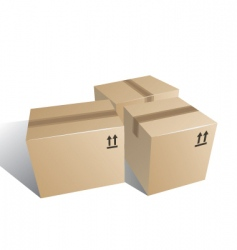 Boxes carton vector