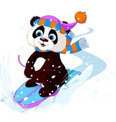 Fast fun panda vector