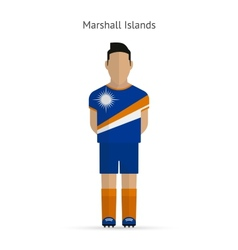Marshall islands football player soccer uniform vector