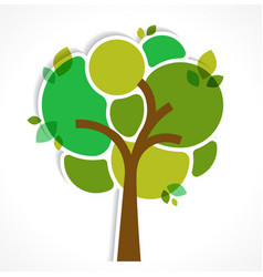Green tree - background and infographics vector