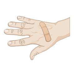 Hurt hand vector