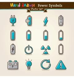 Hand draw power symbols vector