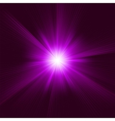Purple star burst background vector