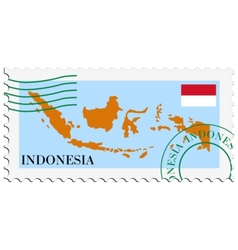 Mail to-from indonesia vector