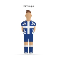 Martinique football player soccer uniform vector