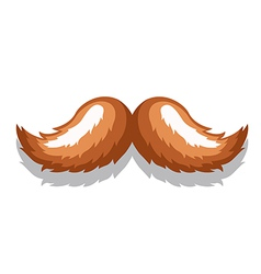Image mustachebrown vector